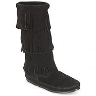μπότες για την πόλη minnetonka calf hi 3 layer fringe boot