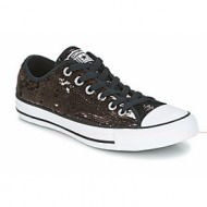xαμηλά sneakers converse chuck taylor all star sequins ox gunmetal/white/black