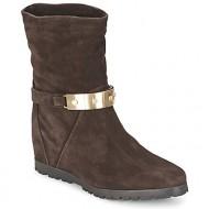 μπότες για την πόλη alberto gozzi velour pepe