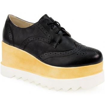 085984ea96a Παπούτσι γυναικεία loafers με δίχρωμη τρακτερωτή σόλα μαύρο « opo.gr