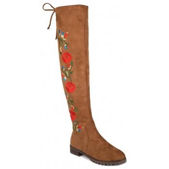 12ddcde39e1 Παπούτσι μποτα φλατ με κεντημα με λουλούδια « opo.gr