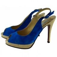 capri collection δερματινο πεδιλο μπλε