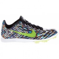 nike - unisex παπούτσια nike zoom rival d 8 μαύρα-λευκά
