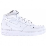 nike - ανδρικά παπούτσια nike air force 1 mid λευκά
