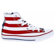 converse - παιδικά παπούτσια chuck taylor all star hi λευκά-κόκκινα