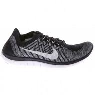 nike - γυναικεία παπούτσια nike free 4.0 flyknit μαύρα