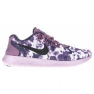 nike - γυναικεία αθλητικά παπούτσια nike free rn 2 le μοβ-λευκά