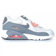 nike - κοριτσίστικα αθλητικά παπούτσια nike air max 90 mesh (ps) γκρι-λευκά