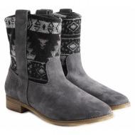 μπότες toms laurel castlerock grey suede 10008967