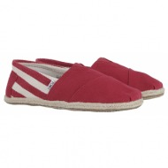 εσπαντρίγες toms classic red stripe university 10005420