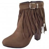 lux shoes γυναικειο camel c163-1