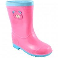 tshoes παιδικη ροζ πλαστικη μποτα (γαλοτσα) m-75-1