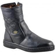 box hellas shoes ανδρικη δερματινη μαυρη μποτα 1901