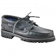 box hellas shoes ανδρικη δερματινο μαυρο μοκασινι 207-2