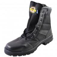 box hellas shoes ανδρικη δερματινη μποτα μαυρη 9100