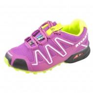 atlanta shoes παιδικό αθλητικό μωβ πράσινο παπούτσι για κορίτσι kmc238-2-6