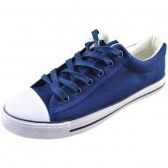 il mondo ανδρικό μπλέ πάνινο μοντέρνο παπούτσι bx6-3