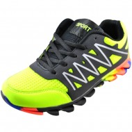 atlanta εφηβικό αθλητικό μαύρο πράσινο παπούτσι vf-193-2