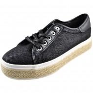 il mondo γυναικείο μοντέρνο μαύρο παπούτσι xjy-59