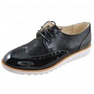 il mondo γυναικείο μοντέρνο μαυρο παπούτσι 16810-1
