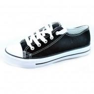 il mondo εφηβικό πάνινο μαύρο παπούτσι 815-7
