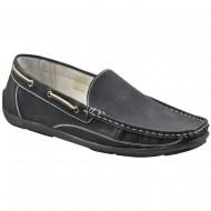 il mondo shoes ανδρικό μοκασίνι μαύρο n7636
