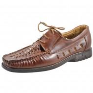 il mondo shoes ανδρικό καλοκαιρινό μοκασίνι καφέ 501-2