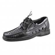 il mondo shoes ανδρικό καλοκαιρινό μοκασίνι μαύρο 501-1