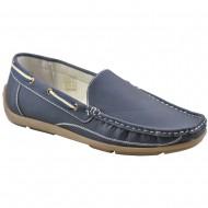 il mondo shoes ανδρικό μοκασίνι μπλε n7636-2