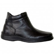 box hellas shoes ανδρικο δερματινο παπουτσι μαυρο 823