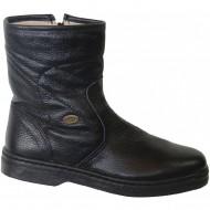 box hellas shoes ανδρικη δερματινη μαυρη μποτα 1901a