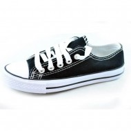 il mondo εφηβικό πάνινο μαύρο παπούτσι 869-1