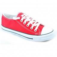 il mondo ανδρικό πάνινο κόκκινο παπούτσι 607-9