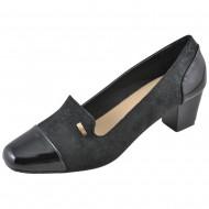 stephan γυναικείo μαύρo κλασικό παπούτσι qp112-1