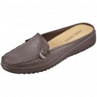 angel shoes ξωφτερνο γυναικείο καφέ μοκασίνι 1001-1