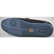 il mondo shoes ανδρικό μοντέρνο μοκασίνι μαύρο 6-9015-1