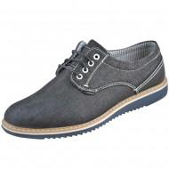 il mondo casual ανδρικό μαύρο παπούτσι 6-9022-1