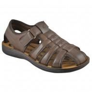 versa ανδρικό πέδιλο-παπούτσι καφέ 5078-2
