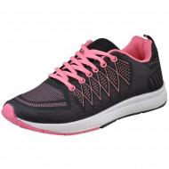 il mondo γυναικειο αθλητικο μαυρο-ροζ 1610-59-2