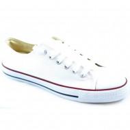 il mondo ανδρικό πάνινο λευκό παπούτσι 607-10