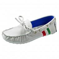 giardino doro shoes μοκασινι bianco c1337-3