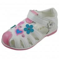 m&m shoes πεδιλο λευκο 431-14-2