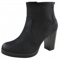 lux shoes γυναικειο μαυρο μποτακι g-06-2