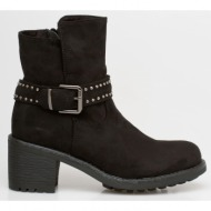 keira ankle block boot, μαύρο - 38262/1
