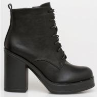 regan block heel boot, μαύρο - 20034/1