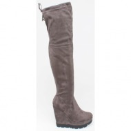 tammi over the knee boot, γκρι - 38274/2