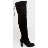 fame over the knee boot, μαύρο - 74595/1
