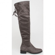 gaily over the knee boot, γκρι - 74597/2