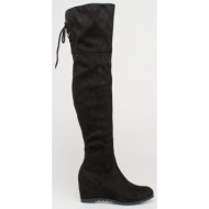 kami over the knee boot, μαύρο - 74604/1
