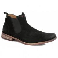 παπούτσια ανδρικά chic & suede - μαύρο